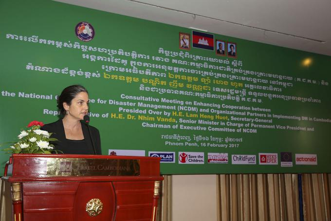 Ms Elizabeth Pearce, Country Director of Save the Children in Cambodia.