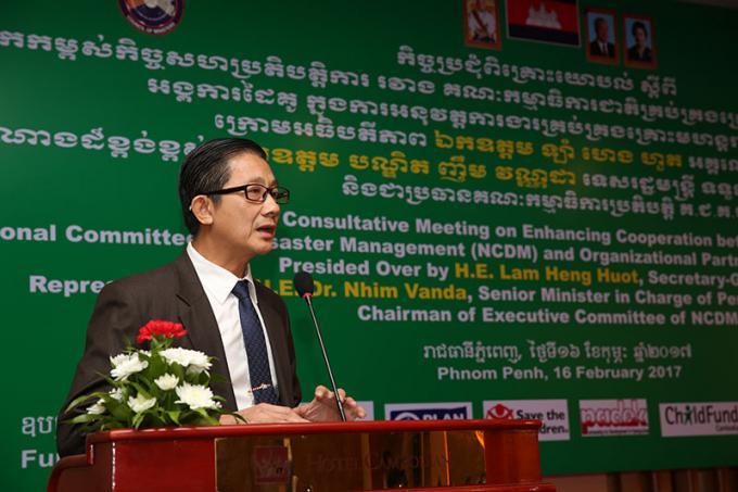 His Excellency Lam Heng Huot, Secretariat of State for NCDM.