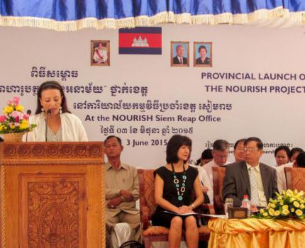 The NOURISH Project Officially Launched in Siem Reap Province