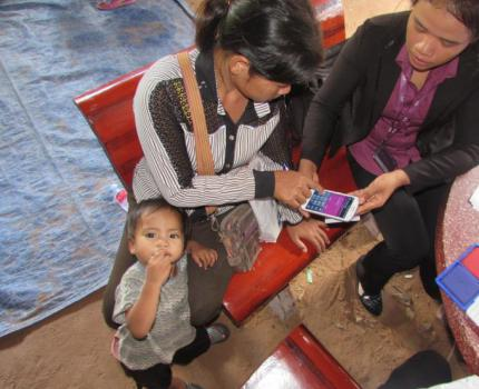 Cambodian Women and Children Benefit from Digital Technology