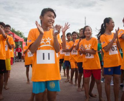 Children demand for Lower Stunting Rates at Race for Survival