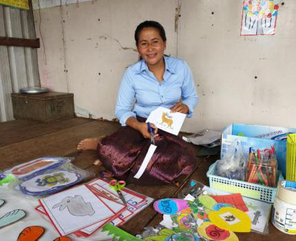 Denied a full education in her youth, a mother is determined to educate the children