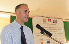 Mr. Andy Featherstone, Interim Country Director of Save the Children in Cambodia.